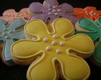 Daisies   Custom decorated Mother's Day cookies   Pastel flowers   Garden theme   Spring blooms