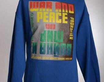 Vintage 90s WAR AND PEACE Krieg und Frieden Opera Prokofiev Sweater Seattle Speight Jenkins 1990 Tolstoi