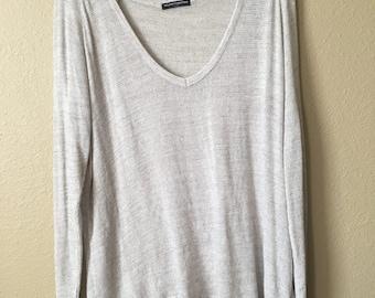 Brandy Melville Oversized Beige Shirt
