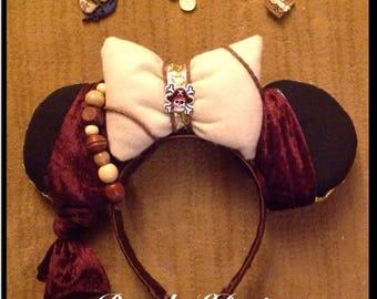 Inspired pirates Jack Sparrow Mickey Mouse Minnie Mouse ears headband