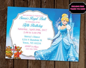 Cinderella invitation cinderella party cinderella birthday for Cinderella invitation to the ball template