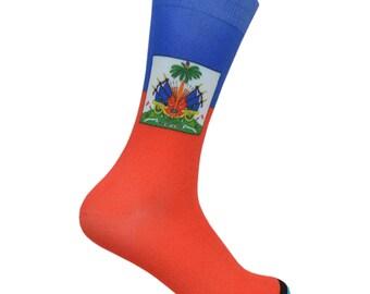 Haitian Flag Socks