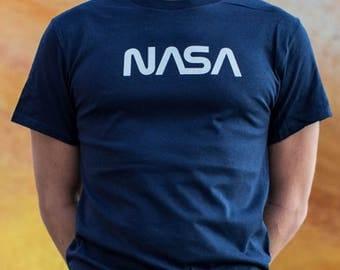 NASA T-SHIRT Cotton   Professionally printed silkscreen