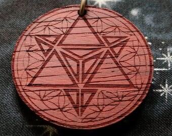 Merkaba Talisman / Amulet / Sacred Geometry Pendant