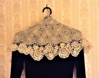 Delicate Irish lace shawl