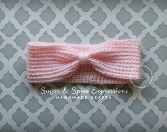 Baby Turban Style Headband Toddler Kid Adult Vintage Bow Knotted