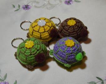 Crocheted Turtle - keyring