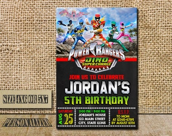 Power Ranger Invitation / Power Ranger Birthday / Power Ranger Birthday Invitation / Power Ranger Party / Power Ranger Invite / Power Ranger