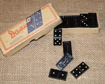 Dominoes Tile games Domino USSR board game Soviet toy USSR USSR game Domino set Vintage domino Family game Table toy Soviet era game
