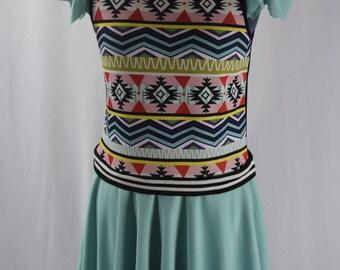Square Circle skirt dress