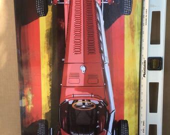 Top view classic ferreri 16x32 canvas print