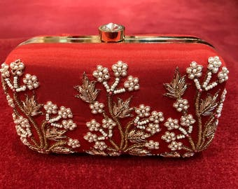 Single Sided Embroidered Clutch