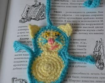 Cat Bookmark, Crochet Bookmark, Cat Lover Gift, Animal Bookmark, Bookmark, Unique Bookmark, Kids Bookmark, Planner Bookmark, Book