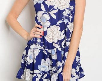 Blue floral cami style top