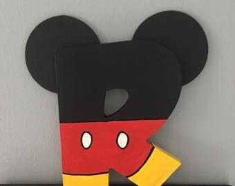 Disney Mickey Wood Letter