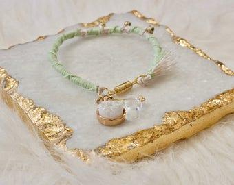 White Quartz Charm Bracelet