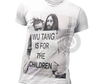 Wu Tang Is For The Children T Shirt - ODB vs Lennon Shirt - RZA - Hip Hop - Rap - Rapper - 36th Chambers - 90s - Old School - Rare = Vintage
