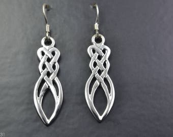 Celtic Design Earrings with Celtic Knot