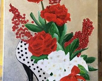 Flowers in shoe