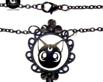 "Black necklace ""Luna Cat"""