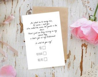 Will You Be My Bridesmaid - Will You Be My Bridesmaid Ideas, Asking Bridesmaids, Bridesmaids Invitations, Be My Bridesmaid - Customised