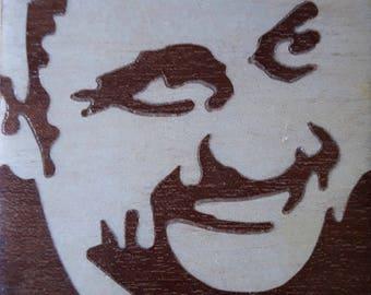 Pino Daniele inlaid Maple and mahogany