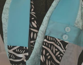 Turquoise, black, and white Women's Infinity All Daywear Scarf