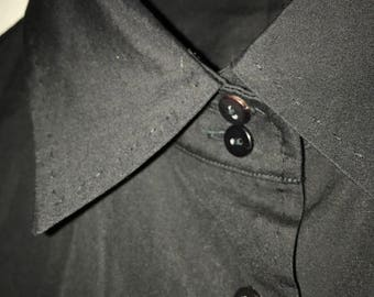 Jil Sander solid black button-up Italian size 36