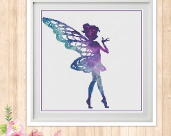 Galaxy Fairy Cross Stitch Pattern