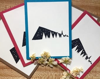 Abstract Mountain (Set of 5)