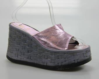 90's vintage Buffalo platform wedge heel platform size. EU: 36 / 37 UK 4 2/3 UNITED STATES 6