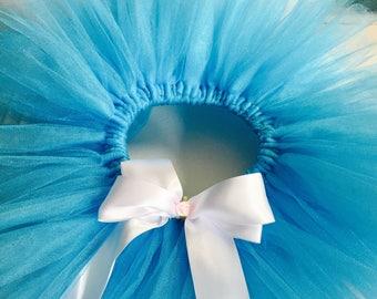 Turquoise tutu with matching bow headband