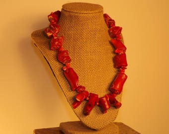 This is a Red Coral Necklace