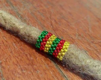Dreadlock Bead Rasta Rastafari beaded bead
