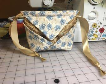 Owl Origami Drawstring Bag