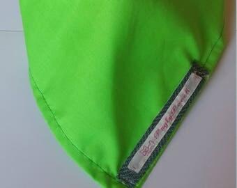 Small  Bright Green Tie Dog Bandana