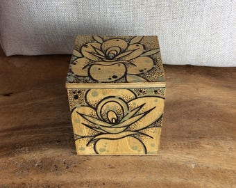 Hand Painted Ring Box