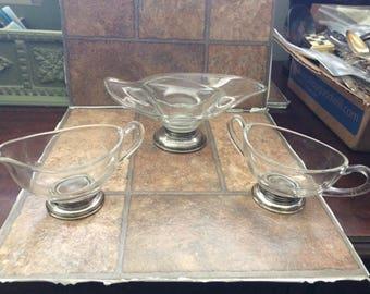Sterling silver bowl set