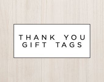 Coordinating Thank You Gift Tags