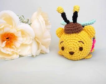 Pooh Tsum Tsum in bee costume amigurumi PATTERN-Winnie the pooh amigurumi PATTERN-  Winnie the Pooh crochet doll PATTERN