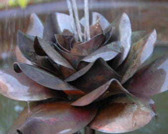 Handmade botanical copper fountains - Rose
