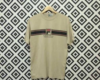 on sale!! Vintage Fila Tshirt Fila Biella Italia Active Wear Big Logo Spellout