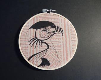 EAGLE/screenprint in hoop size: 13 x 13