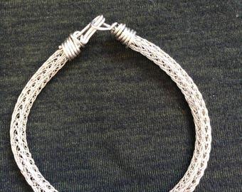 silver wire woven bracelet