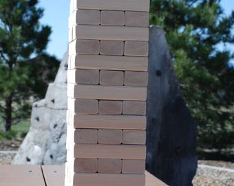 Value yard wood stacking toy game, Stacking wood blocks, Giant jenga, Yard games, Yard toys, Stacking game