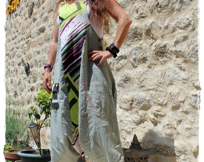 Harem dress in linen - Dungarees