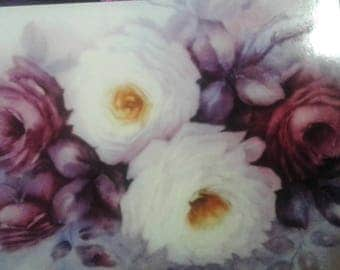 Shabby Roses Blank Greeting Cards  x 4
