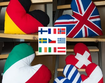 Flags, cushions in different shapes and sizes