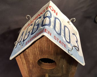 Bird House - License Plate Birdhouse
