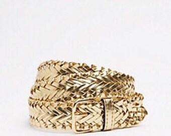 Gold Braided Belt (Size M/L)